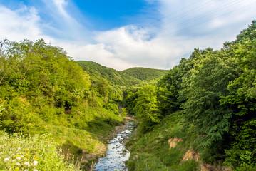Kirklareli, Turkey, 19 May 2017: Stream of Kiyikoy, Vize