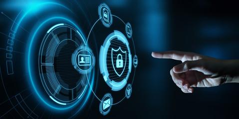 Obraz Data protection Cyber Security Privacy Business Internet Technology Concept - fototapety do salonu