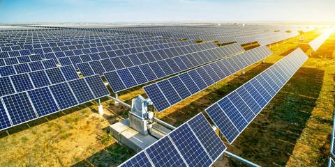 Aerial solar photovoltaic panel automatic rotating bracket