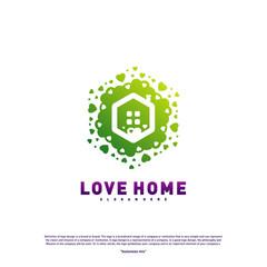 Love Home Logo Design Concept. Business Love House Logo Vector Template