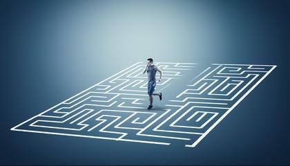 Solve the maze