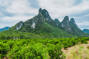 The mountains and rural scenery