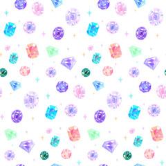宝石のシームレスな背景パターン