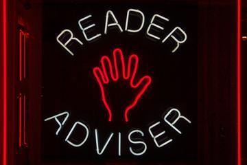 Palm reader adviser neon