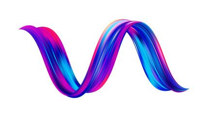 Vector illustration: 3d Twisted colorful flow liquid shape. Acrylic paint sroke. Modern design.