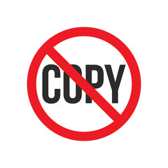 do not copy sign