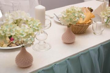 banquet in a restaurant