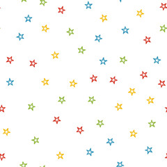 Random colorful stars pattern, abstract background