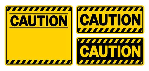 警告サイン&フレーム(CAUTION)