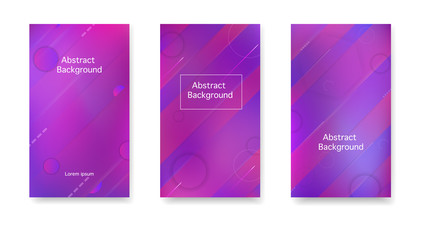 Gradient, neon, lines, forms. Vector. Creative cover in a minimalist style. Color geometric gradient, abstract background.