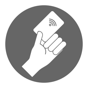 Contactless payment. Vector icon.