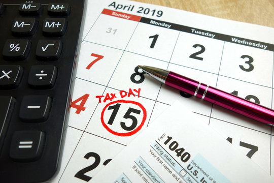 April 15, 2019 - tax day in the United States of America