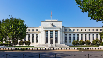 Federal reserve building, the headquater of Federal reserve bank. Washington DC, USA. Wall mural