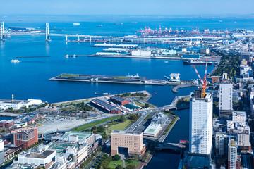 (神奈川県ー都市風景)高層展望台から見る横浜の風景8