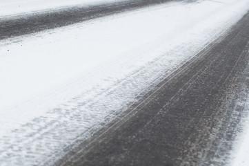 car traffic in winter