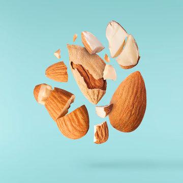 Fresh raw almond. Organic healthy snack