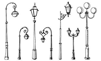 Street light. Vector illustration. Vector isolate element. Fotomurales