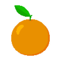 Pixel orange. Vector illustration.