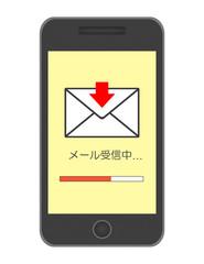 スマートフォンでメール受信