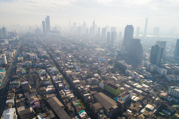 Air pollution in Bangkok has been worsening with modern building