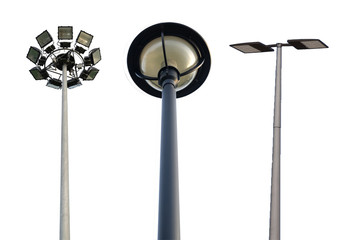 Light pole  isolated on white background Wall mural