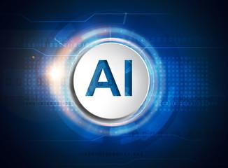 Fototapeta artificial intelligence concept