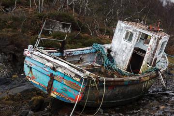 Old Fishing Boat in Scottish Highlands