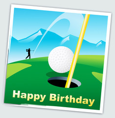 Happy Birthday Golfer Message As Surprise Greeting For Golf Player - 3d Illustration