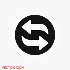 Exchange and convert icon. Logo, illustration, vector sign symbol