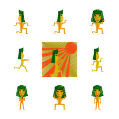 assembly flat shading style icon mummy halloween monster