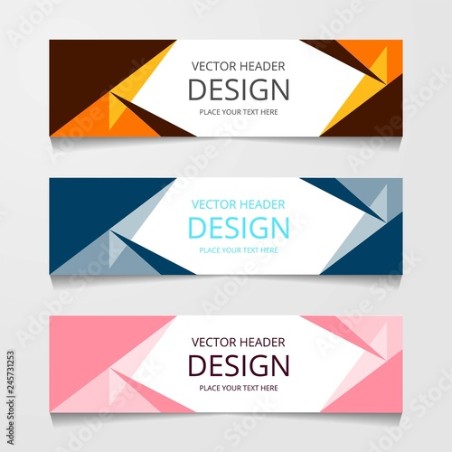 Vector abstract banner design web template  Collection of