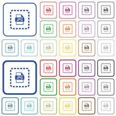 Place jpg file outlined flat color icons