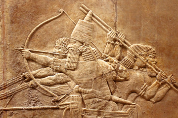 Assyrian relief on the wall Wall mural