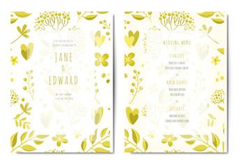 Wedding invitation. Vector watercolor seamless abstract botanical ethnic painting. Artistic handmade batik print, floral oriental textile, fabric.
