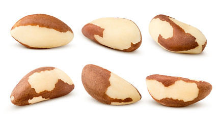 brazil nut, isolated on white background, clipping path, full depth of field Wall mural