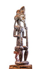 African ethnic wood carving from BAULE ethnic - IVORY COAST