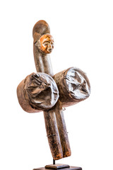 African ethnic wood carving from SHIRA-POUNOU ethnic - GABON