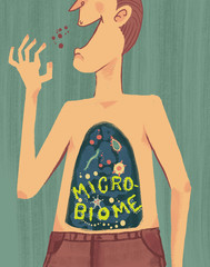 concept,graphic,microbiome,bacteria,human,germs,microbiota,pattern,background,disease,microbe,microorganisms,illustration,infection,gut,microbes,intestine,system,health,virus,intestinal,science,cell,f
