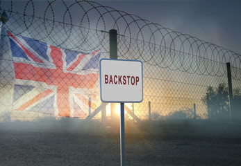 Backstop Sign - Politics : Brexit concept