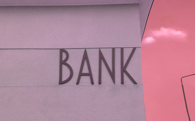 Facade with Bank inscription