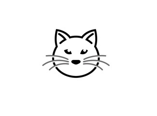 Cat head and face logo