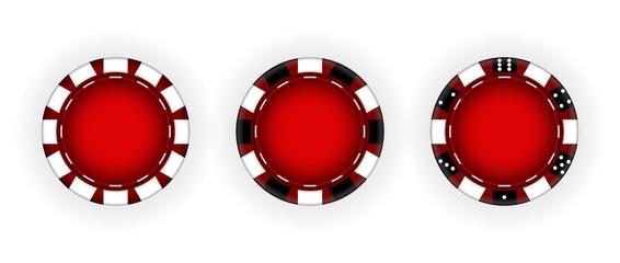 Set of Chips for the casino. Gambling. Vector  Illustration