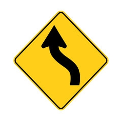 USA traffic road sign.just ahead ,a road curve left then right. vector illustration