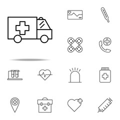 ambulance icon. medical icons universal set for web and mobile