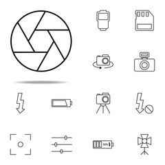 lens icon. photography icons universal set for web and mobile