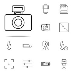 camera flash icon. photography icons universal set for web and mobile