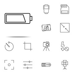 battery icon. photography icons universal set for web and mobile