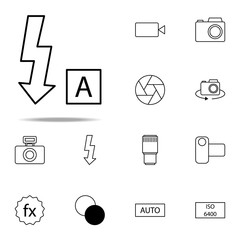 auto flash icon. photography icons universal set for web and mobile