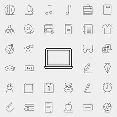 a laptop icon. school icons universal set for web and mobile