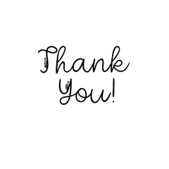 Thank You handwritten inscription. Hand drawn lettering. Thank You calligraphy. Thank you card. Vector illustration isolated on white.